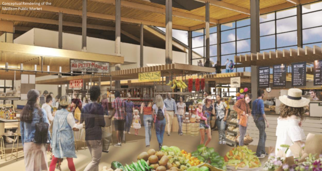 Rendering of Public Market Interior